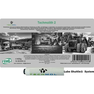Mehrzweckfett Techmol Techmolith 2 400g Lube Shuttle®  System